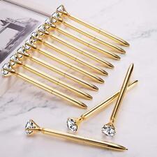 12x Cute Big Diamond Crystal Metal Ballpoint Pens -Black Ink-Best gift-USA