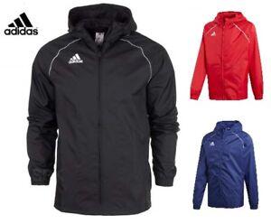 Adidas Boys Jacket Coat Junior Rain Waterproof Top Hooded Hoodie Wind Stopper