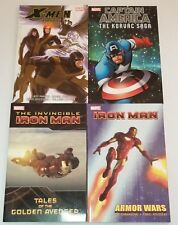 Lot of 4 Marvel Comics Digest Softcover~Captain America~X-Men~Iron Man~ NEW