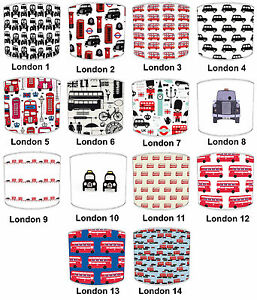 Lampshade Ideal To Match Londons Black Cabs Cushions London's Red Bus Wallpaper