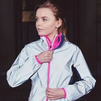 Trespass Womens Running Jacket Reflective Water Resistant & Windproof Coat