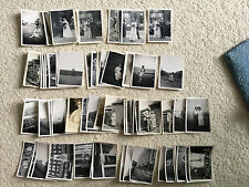 102 photos of 1940's/1950's family life 65mm x 90mm