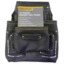 Craftright RIGGERS TOOL POUCH 10 Pockets, Oil Tanned Leather, Double Stitching
