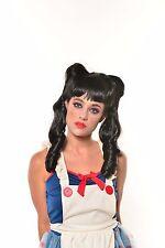 Halloween Black Braided Doll Wig with Bangs Cosplay G525BK