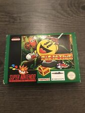 Pac In Time SNES BOXED MINT PAL Rare Uncommon Vgc