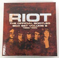 RIOT - THE OFFICIAL BOOTLEG BOX SET, VOL. 2: 1980-1990 [11/24] NEW cd open box