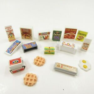 Vintage Barbie Grocery Kitchen Littles Pantry Carton food Lot Cheese Butter more