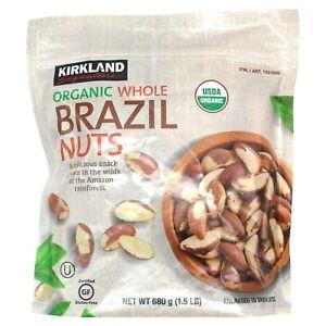 Kirkland Signature Organic Whole Brazil Nuts 24 oz