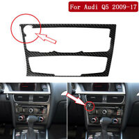 For Audi Q5 2009-17 Carbon Fiber Central CD Stereo Panel Decorative Trim Type B