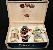 Polonaise Collection Millennium 2000 Glass Ornaments by Kurt S Alder in Wood Box