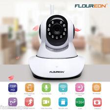FLOUREON 720P HD Sans-fil ONVIF sécurité Caméra IP Support carte TF Panoramique/
