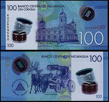 NICARAGUA 100 CORDOBAS (P213a) 2015 POLYMER UNC