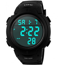 Men Sport Watch CIVO Multifunctional Military Waterproof Simple Big Numbers