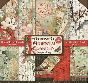 ORIENTAL GARDENS Collection 8x8 Inch Paper Pack STAMPERIA SBBS09 New