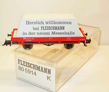 Fleischmann H0 805914 K Nürnberg 2001 Messemodell, Niederbordwagen mit Plane