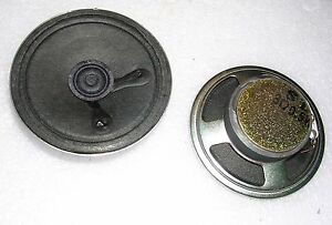 2 NEW Speakers 0.5 watt 8 ohm Miniature 2¼ inch 57 mm with Bigger Magnets