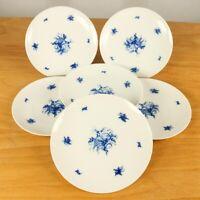 6 x Rosenthal Romanze in blau Frühstücks. Kuchenteller 19,4 cm Wiinblad Service