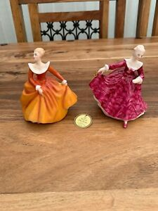 2 Royal Doulton small figurines  HN 3213 KIRSTY HN3220 FRAGRANCE