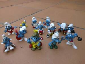 vintage smurfs x 13 years 1969 to 1978