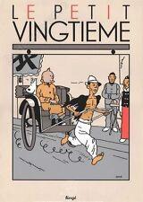 Affiche Sérigraphie Hergé Tintin Le Lotus Bleu 02 Pousse-pousse 35x50 cm