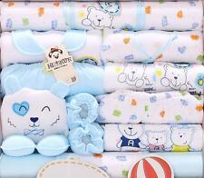 18PCs/set Blue Bear cotton newborn Baby Boy Winter Fall Clothes Set infant Suit