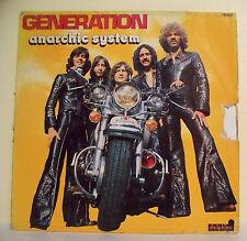 """33T ANARCHIC SYSTEM Disque Vinyle LP 12"""" GENERATION Rock DELPHINE 700.005 Rare"""