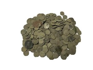300 Uncleaned Roman Bronze Coin lot ( Contains Silver)
