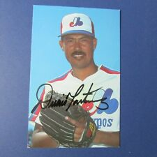 DENNIS DENNY MARTINEZ  1988 Montreal Expos  color postcard  Signed  AUTOGRAPHED