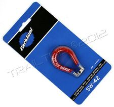 """Park Tool SW-42 4-Sided Spoke Wrench Red 3.45mm Bike Repair Tool SW-42C .136"""""""