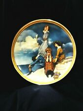 WAITING ON THE SHORE- Vintage Norman Rockwell Collector's Plate