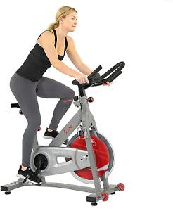 Sunny Health Fitness Indoor Cycling Bike 40 LB Flywheel Dual Felt Resistance New