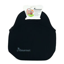 Go Gourmet Insulated Neoprene Lunch Tote Bag by  With Zip And Handles Black