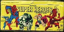 Marvel Super Heroes Trading Cards Retail Display Box (1966, Donruss) Rare