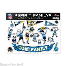 San Diego Chargers Family Spirit Window Decals