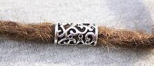 6 Tibetan Style Silver Dreadlock Hair Beads 8mm Hole (5/16 Inch) Viking