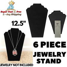 Black Velvet Neck Form Necklace Display Jewelry Easel Stand Bracelet Organizer