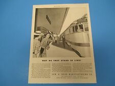 1936 EDW. G. Budd Manufacturing, why do they stand in line? Print Ad  PA004
