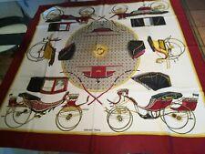 foulard Hermès ,Les voitures a transformation,100 seta ,90x90 cm