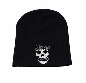 Misfits Beanie Hat Cap Classic Fiend band Logo Official New Black One Size