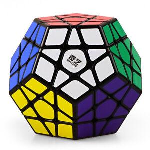 Qiyi Qiheng 3x3 Megaminx Speed Cube Puzzle Stress Fidget 3D Toy for Kids Black