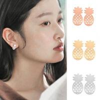 Damen Hollow Fruit Pineapple Shape-Ohrring Ear Stud Schmuck Geschenk *