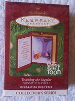 """4th in Winnie the Pooh series """"Tracking the Jagular"""" 2001 Keepsake Ornament, MIB"""