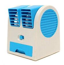 Desktop Dual Bladeless Portable Adjustable Air Conditioning Cooler USB Mini Fan