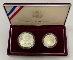 1998 S Robert F Kennedy Memorial Commemorative 2 Coins Set W Box and COA