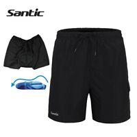SANTIC Mens Padded Baggy Cycling Shorts Casual Bike Bicycle Short Pants Black