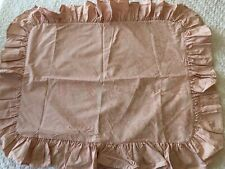 RARE Ralph Lauren AVERY Pale PINK Damask RUFFLED PILLOW SHAM Outlet Torn Tag