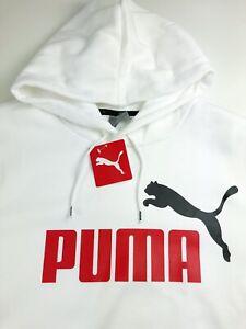 Puma Essentials Big Logo White Sweatshirt Hoodie 586639-52 2XL