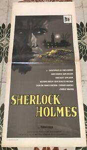 SHERLOCK HOLMES Locandina Poster Originale Terence Fisher CHRISTOPHER LEE