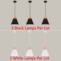 3X Bar Pendant Light Kitchen Lamp Wood Pendant Lighting Modern Ceiling Lights