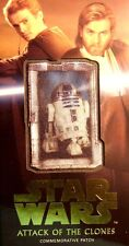 STAR WARS ATTACK OF THE CLONES 3D WIDEVISION R2-D2 GOLD PATCH CARD MP-6  3/10